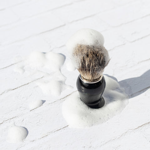 Traditional Solid Wood Shaving Brush - SustainaBLAH