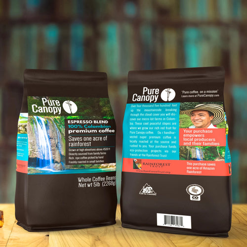 Pure Canopy - Espresso Blend Coffee - 5lb Bag - Whole Bean