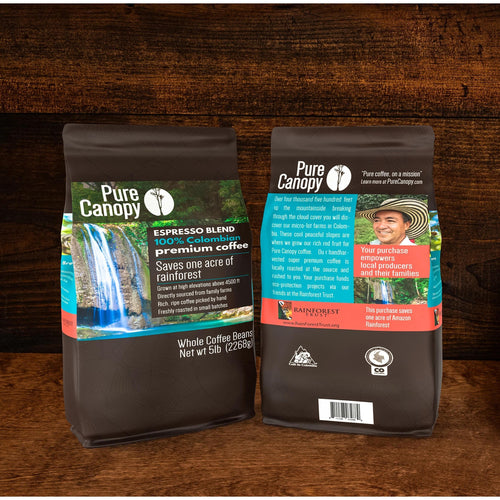 Pure Canopy - Breakfast Blend Coffee - 5lb Bag - Whole Bean