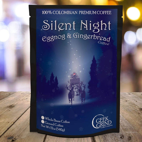Silent Night - Eggnog and Gingerbread flavored coffee - whole bean