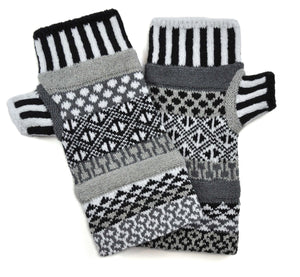 Midnight Fingerless Mittens