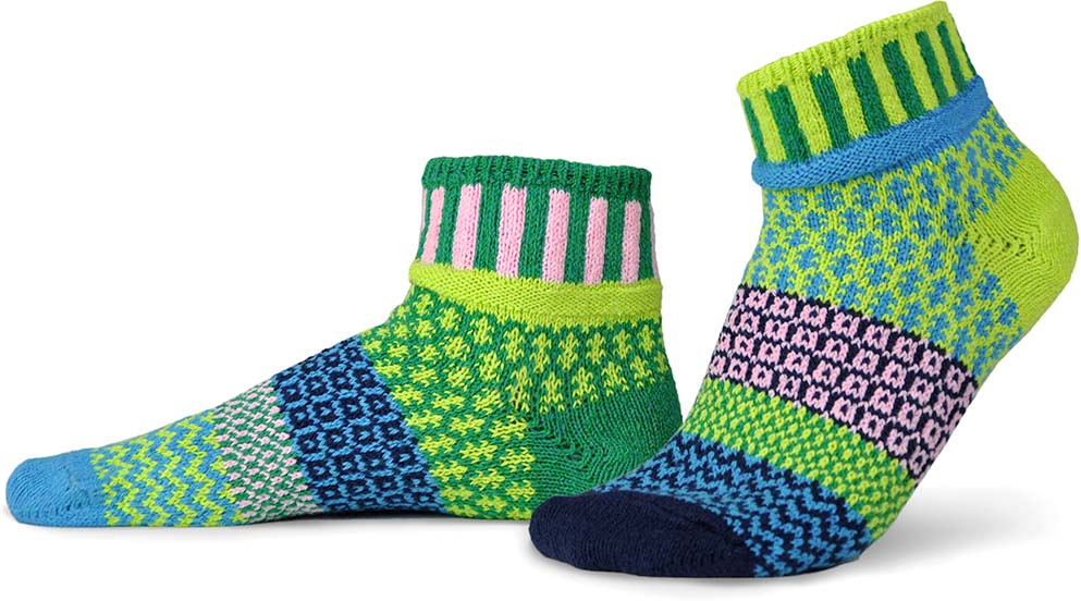Water Lily Quarter Socks