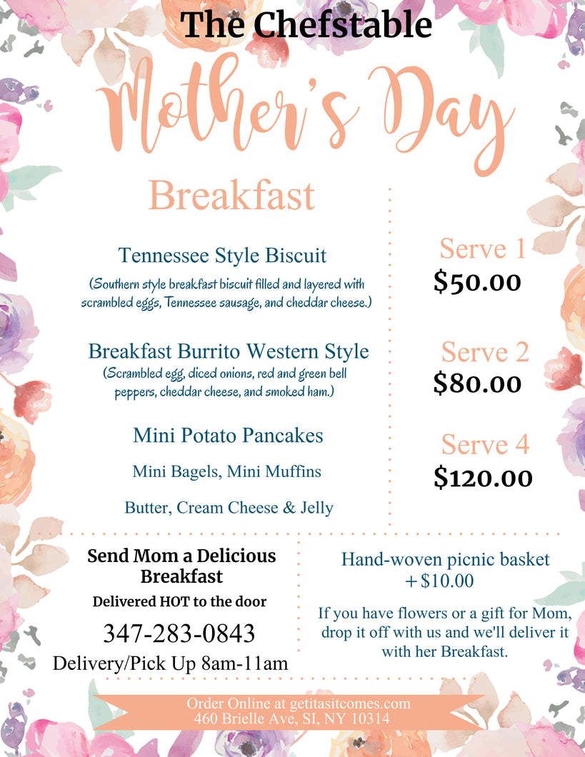 Mother's Day Breakfast Package for 2