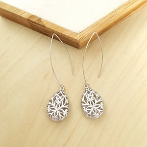 Gothic Earrings in Silver