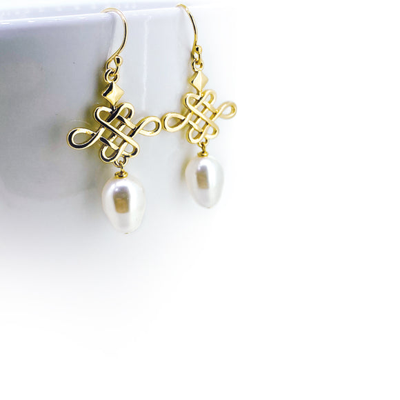 Gold Infinity Knot Earrings