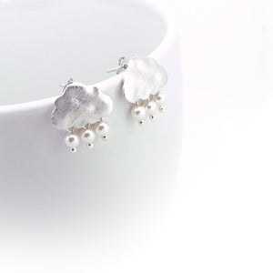 Snow Clouds Earrings (Brushed Silver)