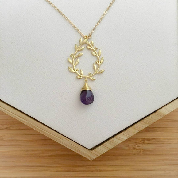 Amethyst Greek style Necklace