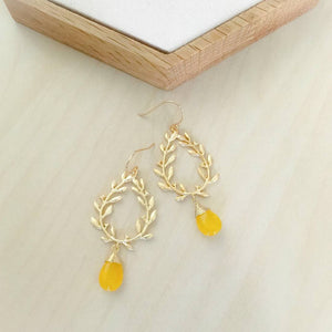 Hestia Earrings | Honey Jade