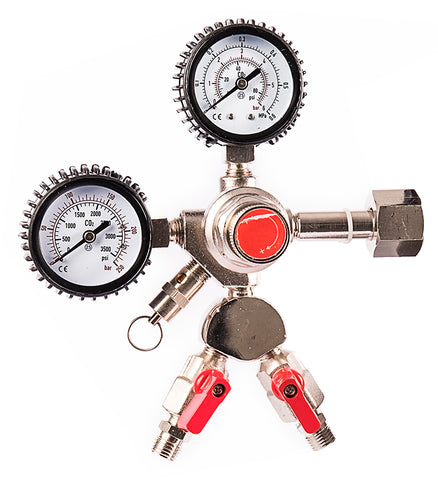 Double Outlet Co2 Regulator