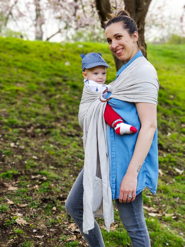 Bamboo Linen Ring Sling Baby Carrier
