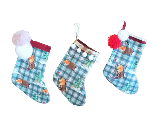 Mini Christmas Stocking - Reese the Moose