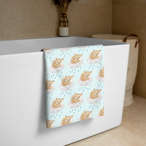 Sun Shower Fox- Printed Towel