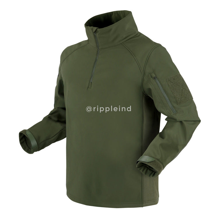 Condor - Olive - Patrol Quarter-Zip Soft Shell Top