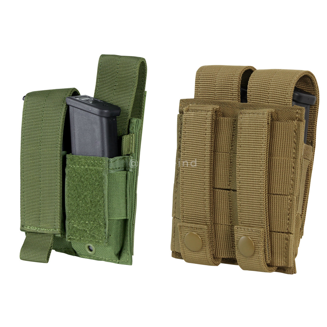 Condor - Coyote Brown - Double Pistol Mag Pouch
