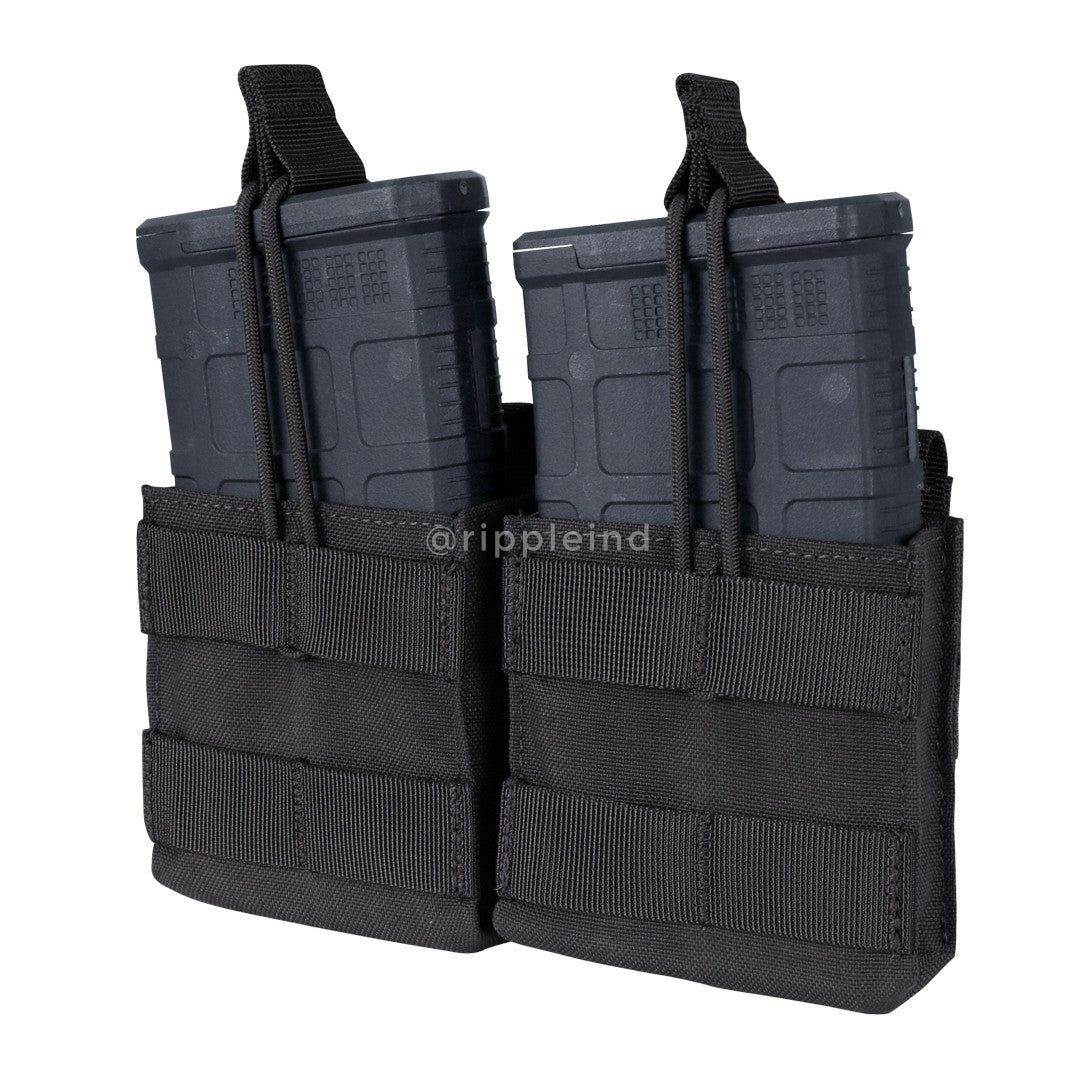Condor - Black - Double Open-Top M14 Mag Pouch