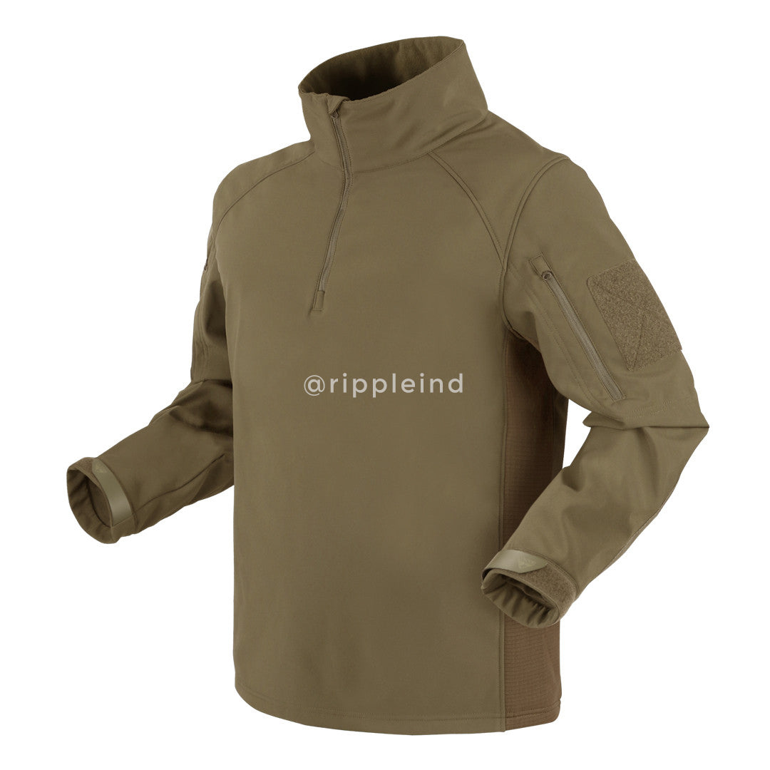 Condor - Tan - Patrol Quarter-Zip Soft Shell Top