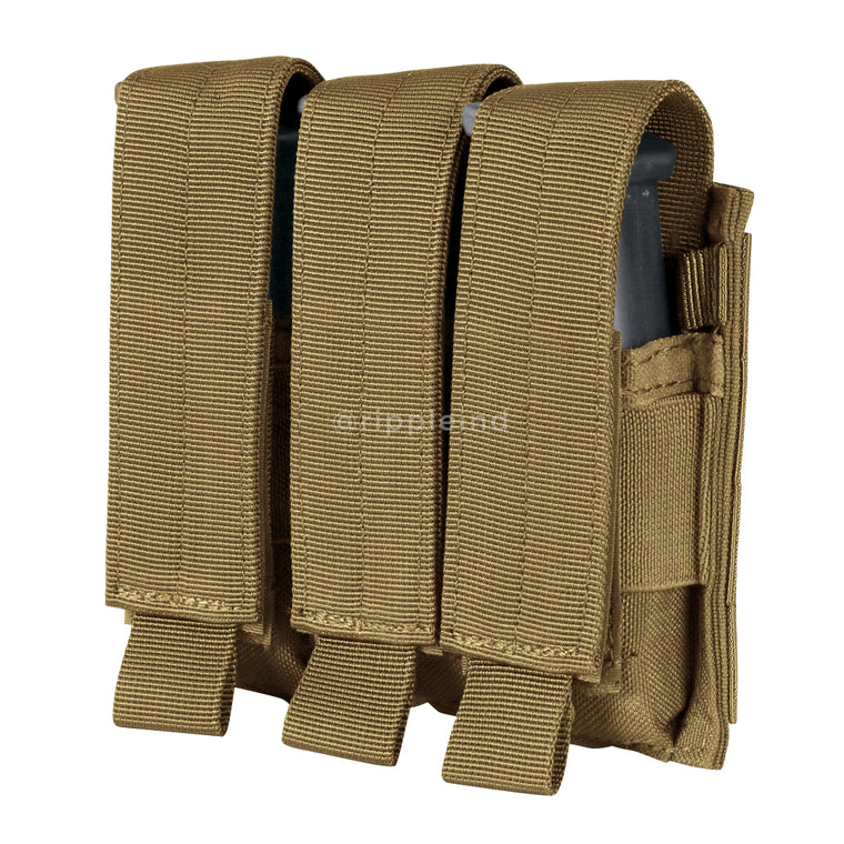 Condor - Coyote Brown - Triple Pistol Mag Pouch