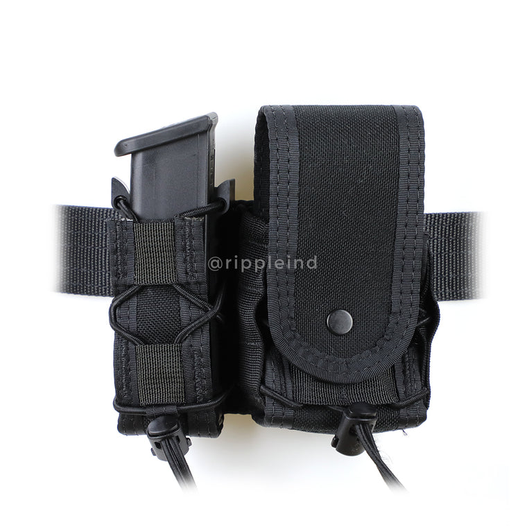 HSGI - Black - BELT MOUNT LEO Taco - COVERED