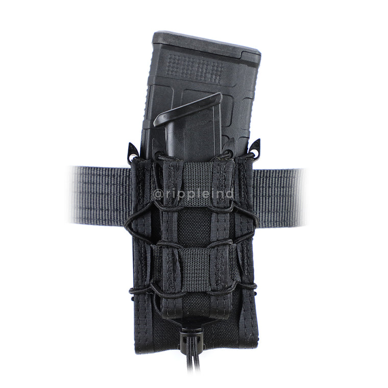 HSGI - Black - BELT MOUNT Double Decker Taco Mag Pouch