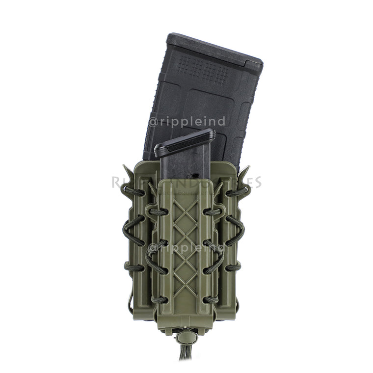 HSGI - Olive - Polymer Double Decker Taco Mag Pouch