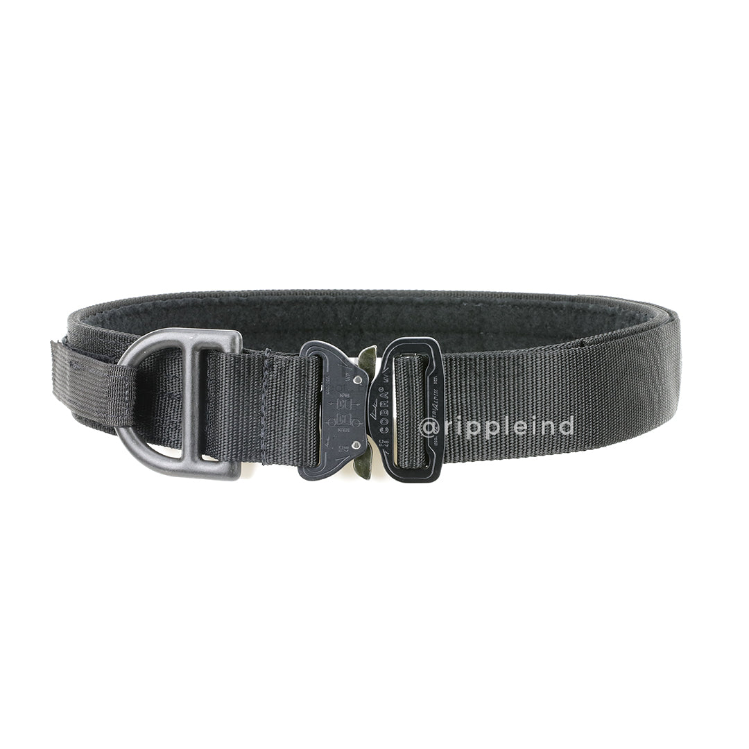 HSGI - Black - Cobra 1.75inch Rigger Belt w/D-Ring & Interior Loop