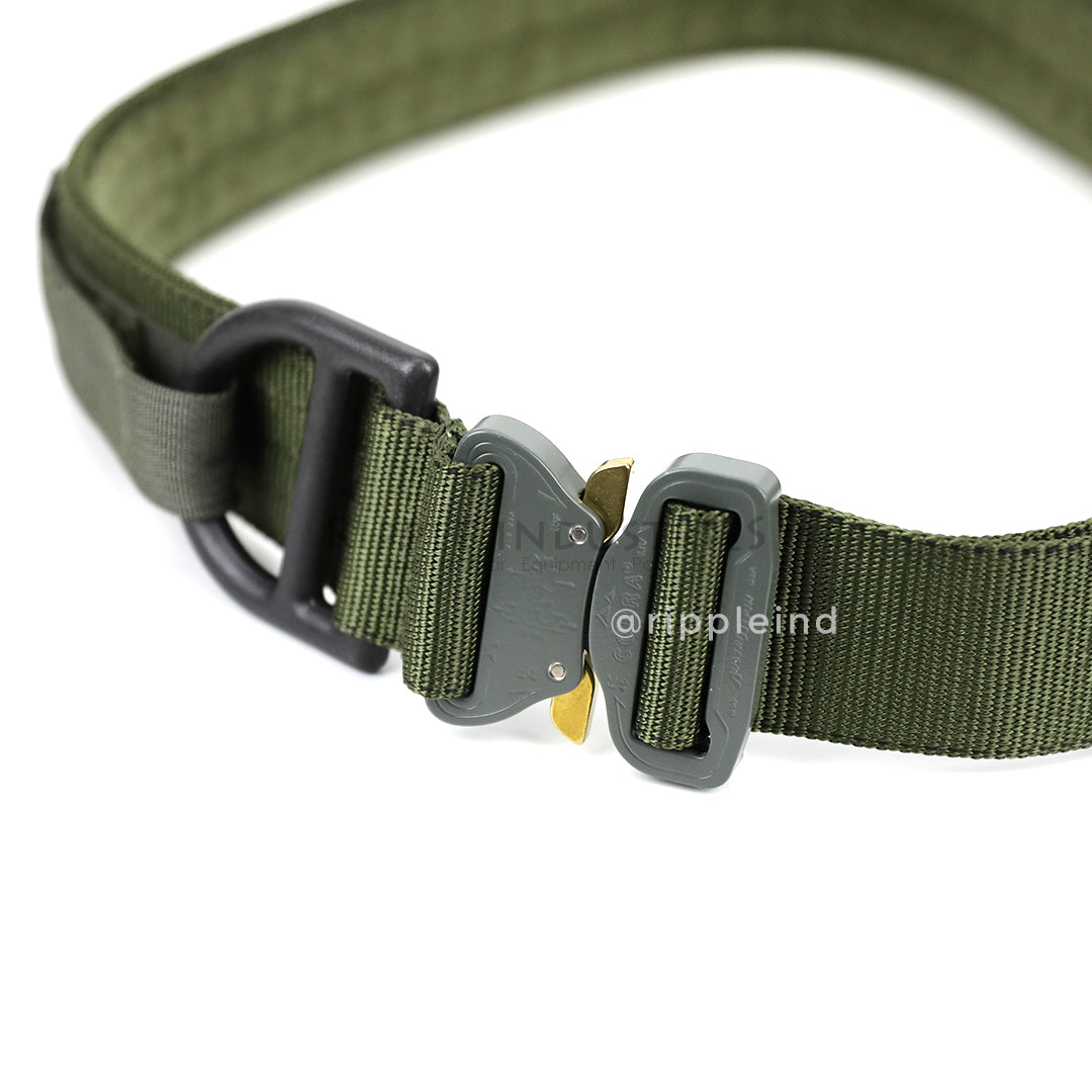 Hsgi olive cobra rigger belt w d ring - Cobra 1 75 rigger belt with interior velcro ...