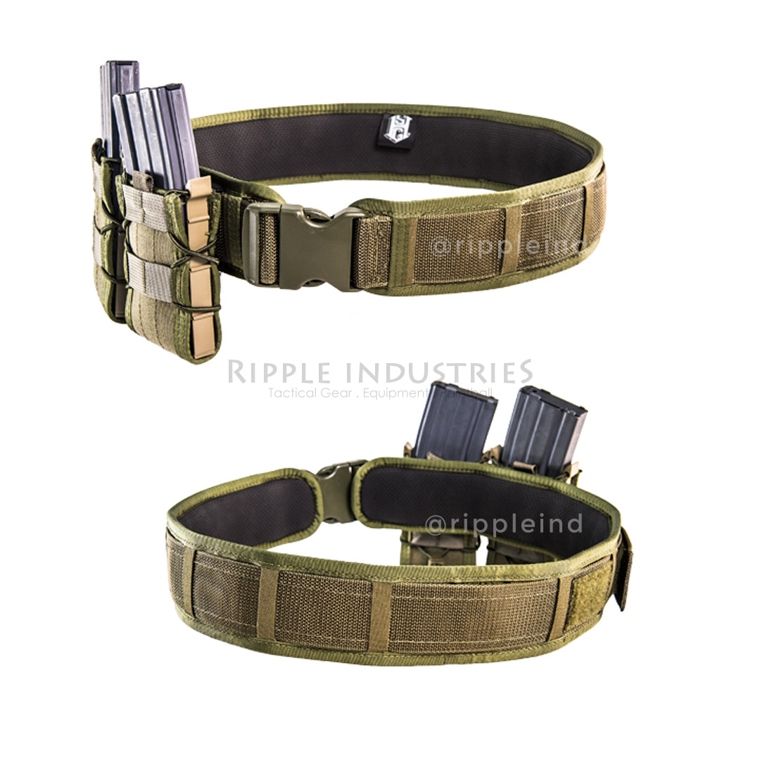 HSGI - Black - LASER Duty Grip Padded Belt