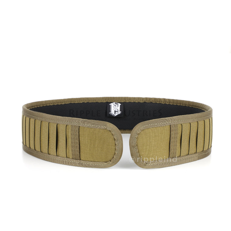 HSGI - Coyote Brown - LASER Duty Grip Padded Belt w/MOLLE Panel - CLEARANCE