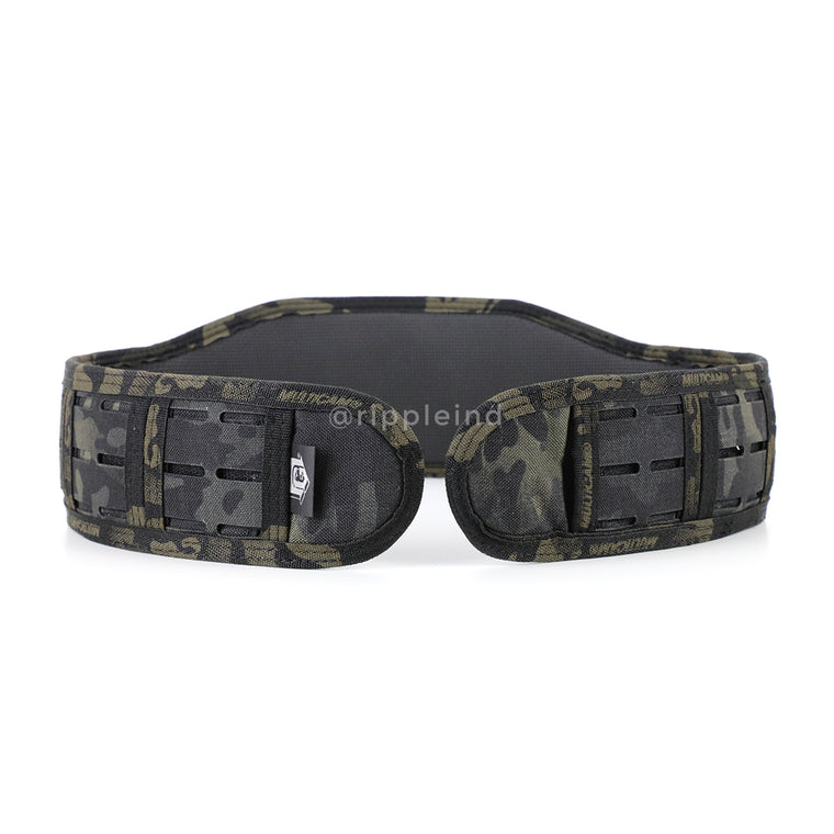 HSGI - Multicam Black - LASER SLIM-GRIP Slotted Padded Battle Belt