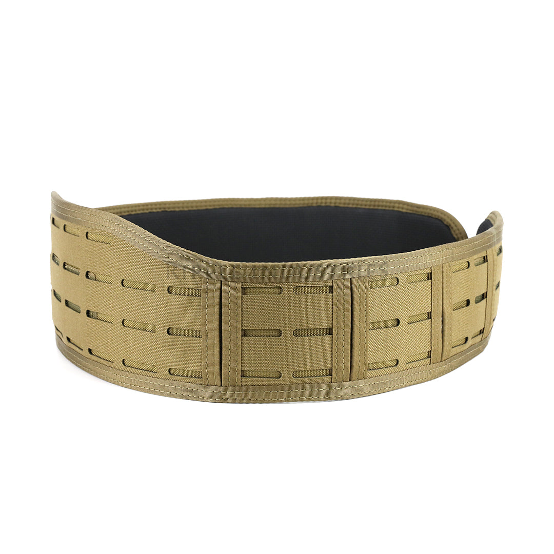 HSGI - Coyote Brown - LASER SLIM-GRIP Slotted Padded Battle Belt