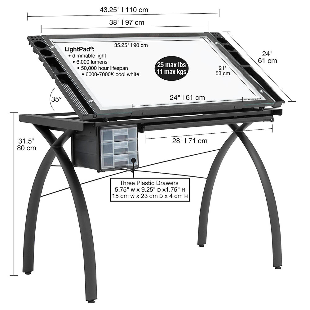 Futura Light Drafting Table