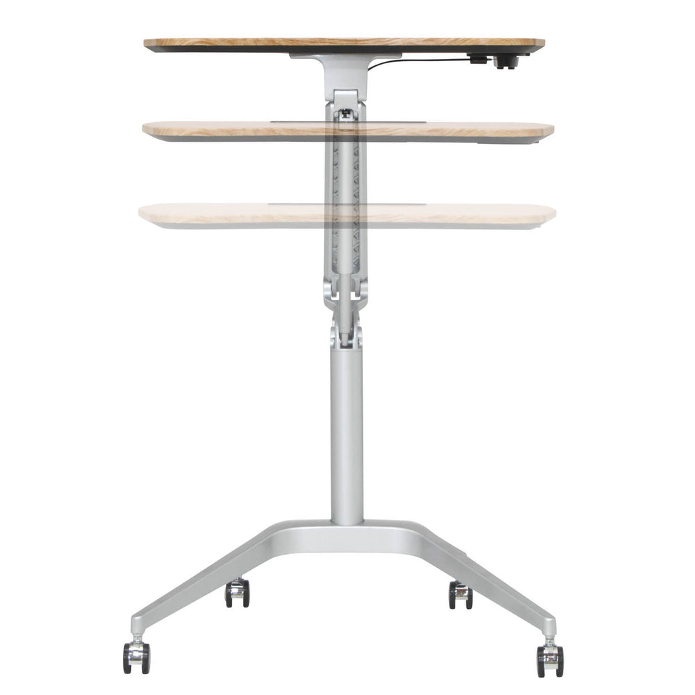 Ridge Height-Adjustable Laptop Table with Tablet Stand