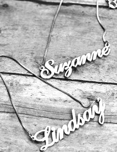 CRS01 - Cursive Personalized Name Necklace