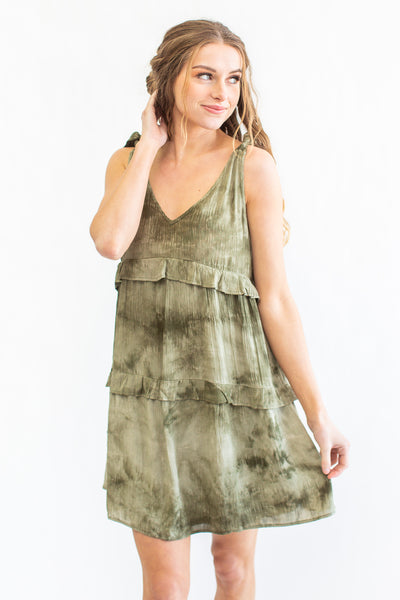 Taylor Tie-Dye Dress Green