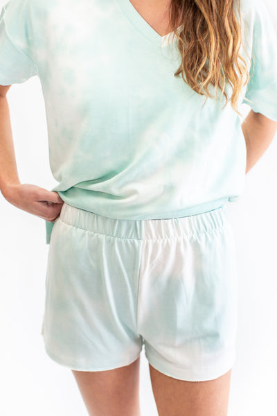 Randi Tie Dye Lounge Shorts Mint