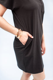 Lana T-Shirt Dress Black