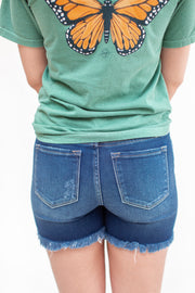 Rylan Button Up Shorts Dark Wash