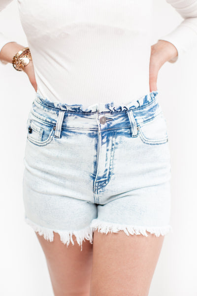 Demi Acid Wash Denim Shorts