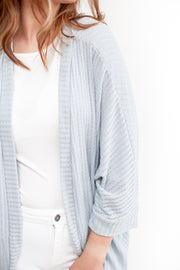 Melanie Knit Cardigan Dusty Blue