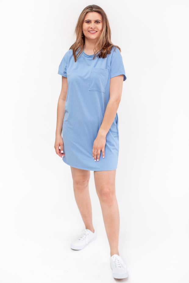 Lana T-Shirt Dress Blue