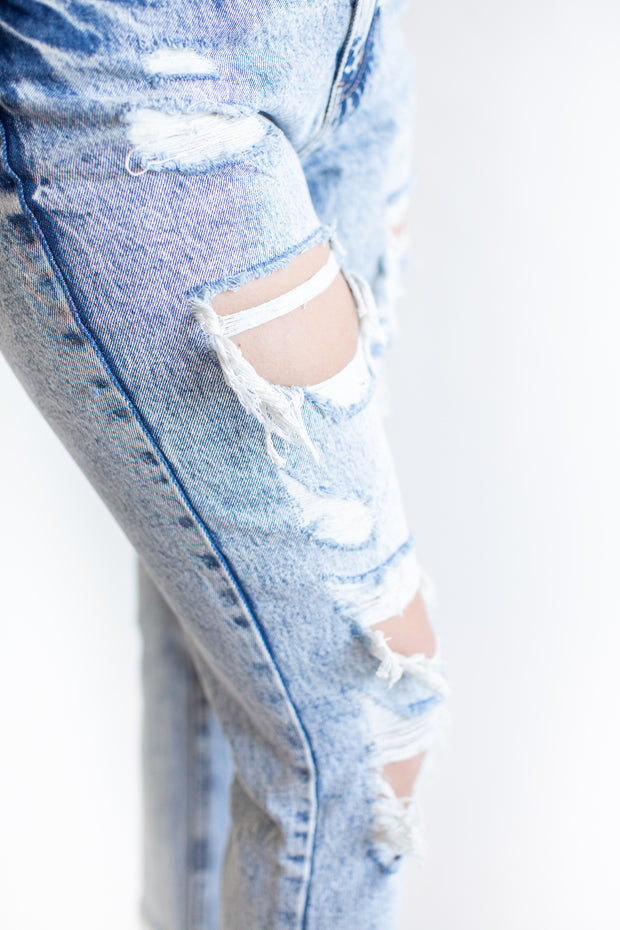 Jade Distressed KanCan Boyfriend Jeans Medium Wash