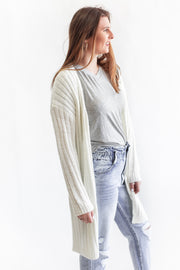 """New Beginnings"" Knit Open Cardigan Ivory"