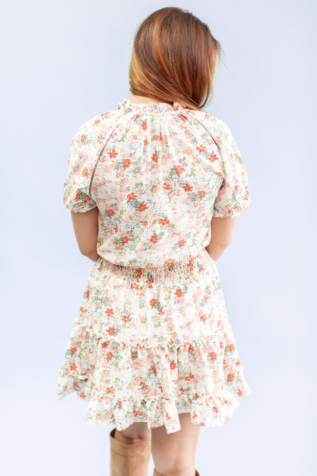 Dorothea Floral Puff Sleeve Dress
