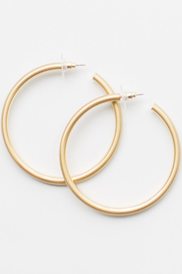 Salem Hoop Earrings Gold