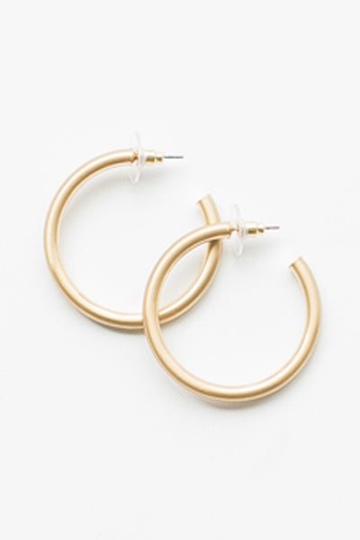 Estonia Hoop Earrings Gold