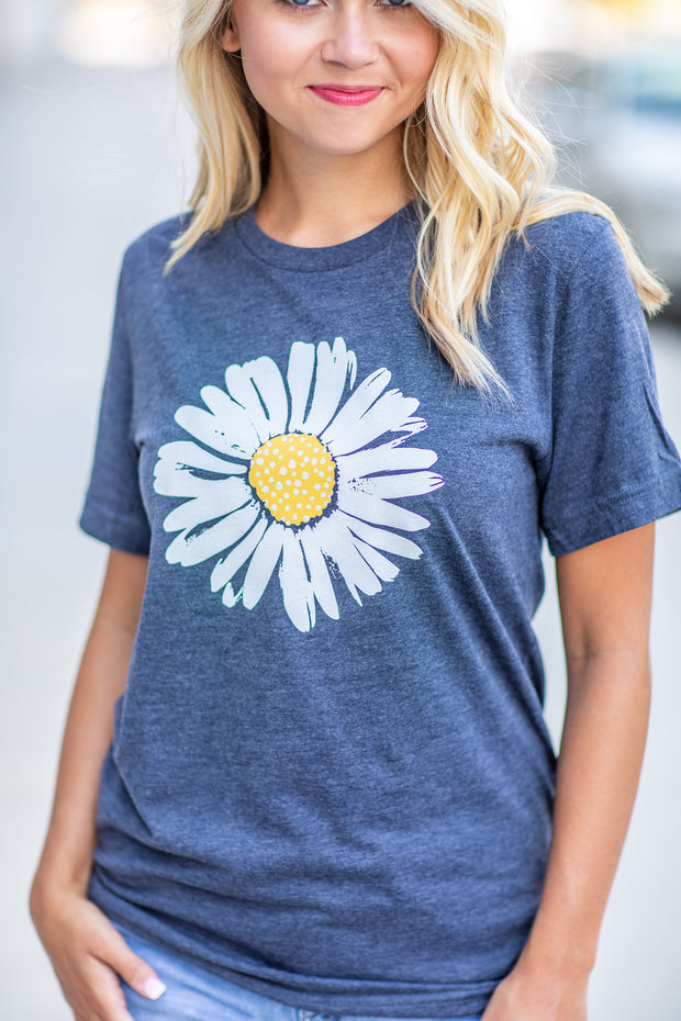 Dazzling Daisy Graphic Tee Navy