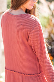 Laurie Thermal Knit Dress Rust