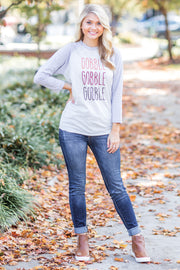 Gobble x3 Multi Raglan Grey - FINAL SALE
