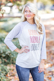 Gobble x3 Multi Raglan Grey