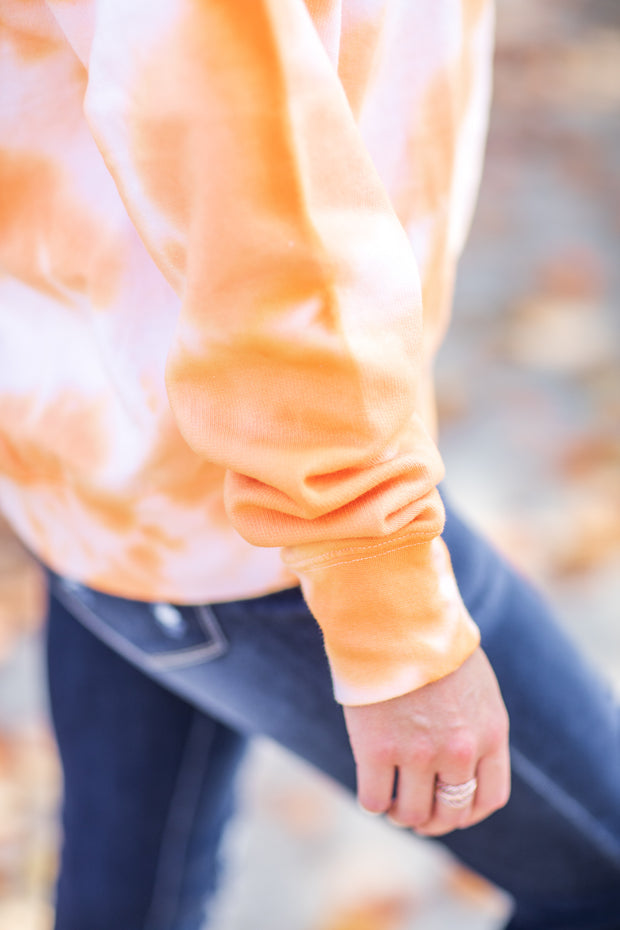 Orange Shadow Tie Dye Sweatshirt - FINAL SALE